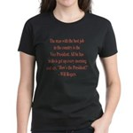 Will Rogers President Quote Women's Dark T-Shirt