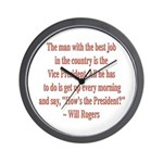 Will Rogers President Quote Wall Clock