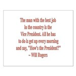 Will Rogers President Quote Small Poster