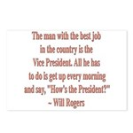 Will Rogers President Quote Postcards (Package of