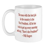 Will Rogers President Quote Mug