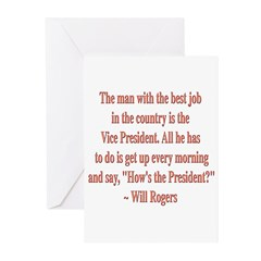 Will Rogers President Quote Greeting Cards (Pk of