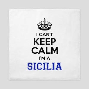 I can't keep calm Im SICILIA Queen Duvet