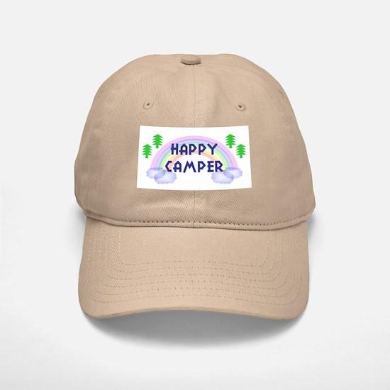 """Happy Camper"" Baseball Baseball Cap"