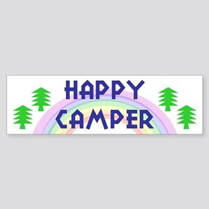 """Happy Camper"" Bumper Sticker"