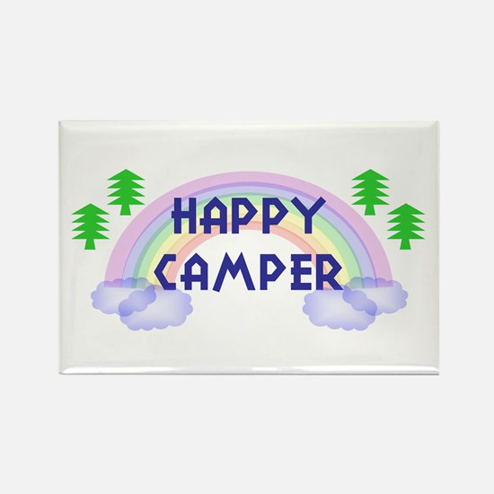 """Happy Camper"" Rectangle Magnet (100 pack)"