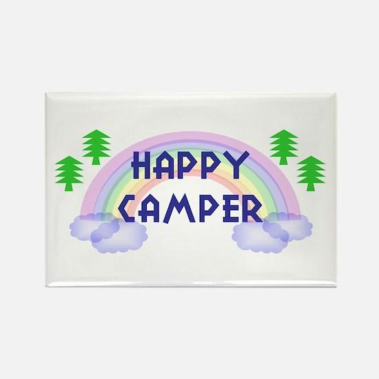 """Happy Camper"" Rectangle Magnet"