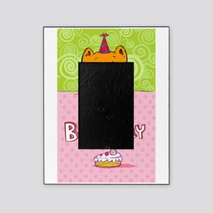 Happy birthday cat design card Picture Frame