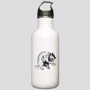 Cat washing itself cli Stainless Water Bottle 1.0L