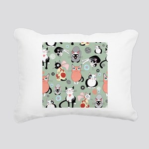 Funny cartoon cat design Rectangular Canvas Pillow