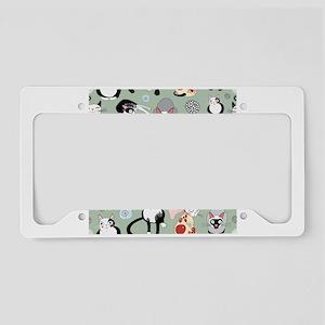 Funny cartoon cat design patt License Plate Holder