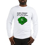 Crohn's Disease Veggie  Long Sleeve T-Shirt