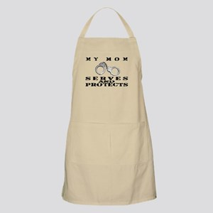 Serves & Protects Cuffs - Mom BBQ Apron