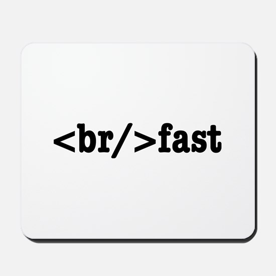 breakfast HTML Mousepad
