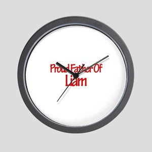 Proud Father of Liam Wall Clock