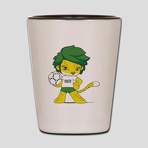 South Africa mascot zakumi Shot Glass