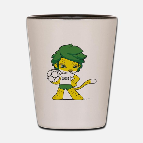 South Africa mascot zakumi Shot Glass