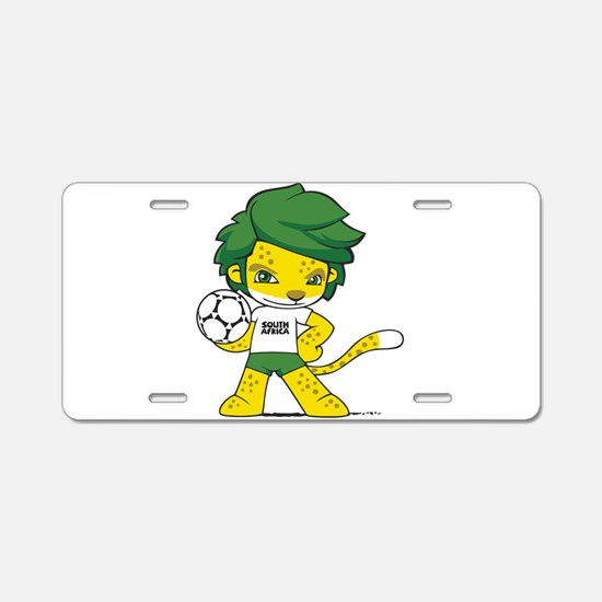 South Africa mascot zakumi Aluminum License Plate