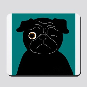 Wink, the Pug Mousepad