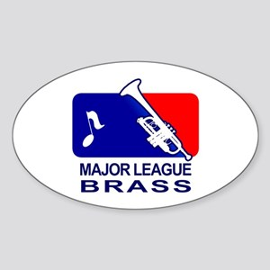 Major League Brass band music Sticker (Oval)