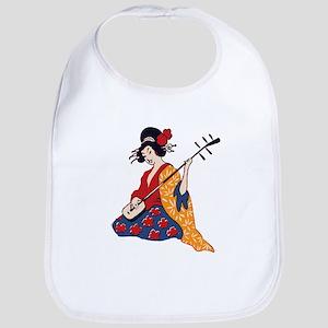 Geisha playing shamisen Bib