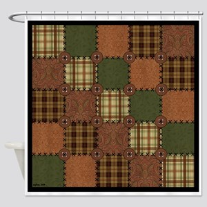 QUILT SQUARE Shower Curtain