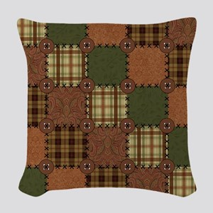 QUILT SQUARE Woven Throw Pillow