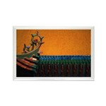Buddhist Tile Work Rectangle Magnet (10 pack)