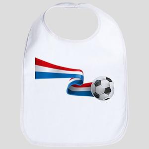 Abstract 3d France flag football ribbon tails Bib