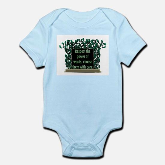 THE POWER OF WORDS.. Infant Bodysuit