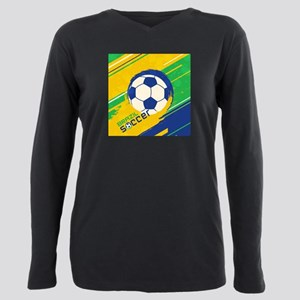 Brazil soccer world cup Plus Size Long Sleeve Tee