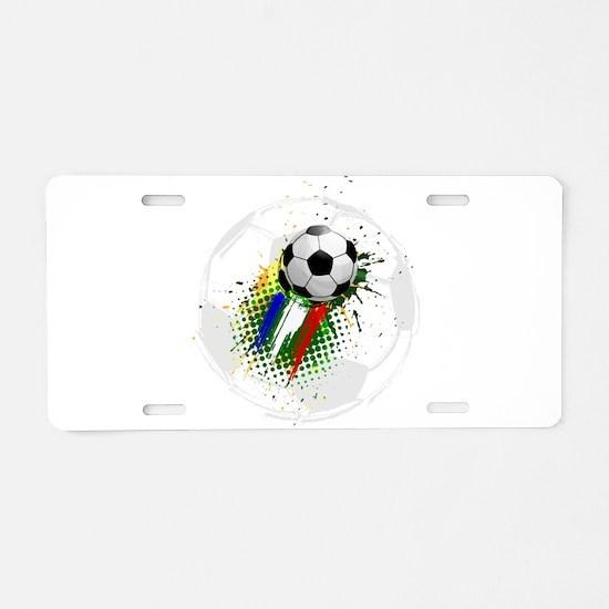 Creative soccer league Aluminum License Plate