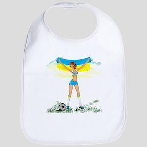 Ukraine soccer girl Bib