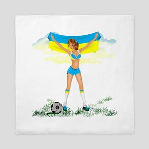 Ukraine soccer girl Queen Duvet