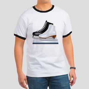 Ice hockey shoes icons T-Shirt