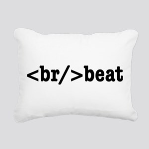 breakbeat HTML Rectangular Canvas Pillow