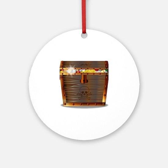 Unique Treasure chest Round Ornament