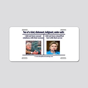 Clintons - Two of a kind Aluminum License Plate