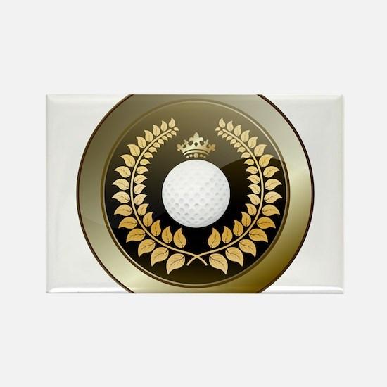Golden crown golf club shield Magnets