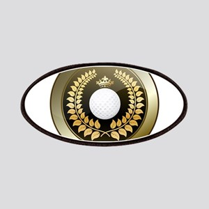Golden crown golf club shield Patch