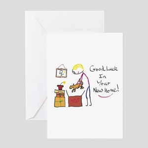 New home greeting cards cafepress good luck new home greeting cards m4hsunfo