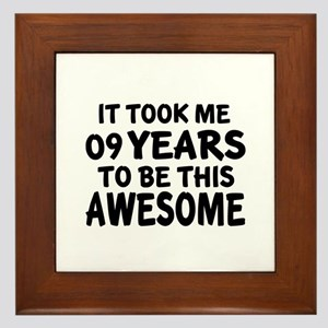 09 Years To Be This Awesome Framed Tile