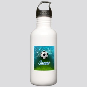 Soccer creative poster Stainless Water Bottle 1.0L