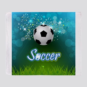 Soccer creative poster Throw Blanket