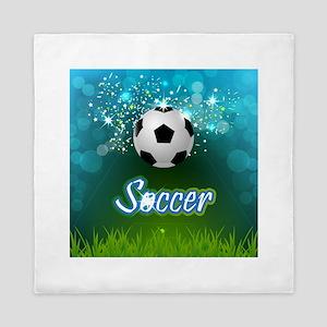 Soccer creative poster Queen Duvet