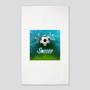 Soccer creative poster Area Rug