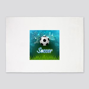 Soccer creative poster 5'x7'Area Rug