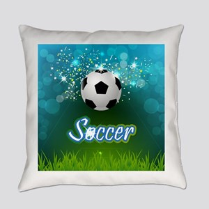 Soccer creative poster Everyday Pillow