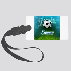 Soccer creative poster Large Luggage Tag