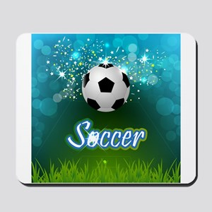 Soccer creative poster Mousepad